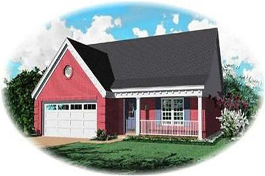 3-Bedroom, 1473 Sq Ft Ranch Home Plan - 170-2255 - Main Exterior