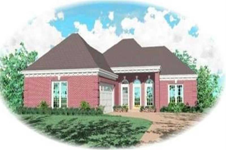 3-Bedroom, 1234 Sq Ft European House Plan - 170-2256 - Front Exterior