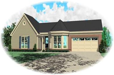 2-Bedroom, 1498 Sq Ft Small House Plans - 170-2267 - Front Exterior