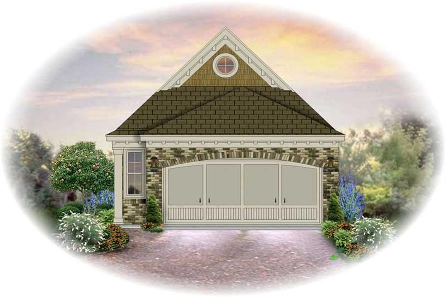 3-Bedroom, 1276 Sq Ft Small House Plans - 170-2276 - Main Exterior