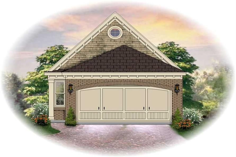 3-Bedroom, 1334 Sq Ft Small House Plans - 170-2280 - Front Exterior
