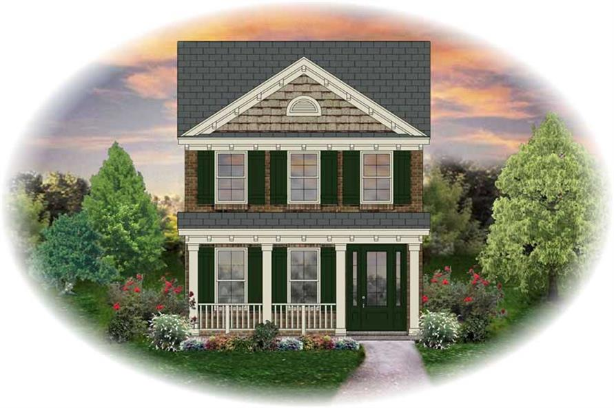 2-Bedroom, 1410 Sq Ft Small House Plans - 170-2283 - Front Exterior