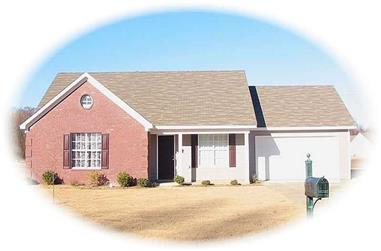 3-Bedroom, 1134 Sq Ft Small House Plans - 170-2285 - Main Exterior