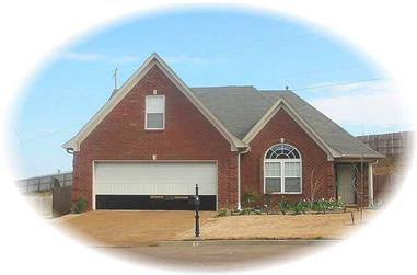 3-Bedroom, 2070 Sq Ft French House Plan - 170-2294 - Front Exterior