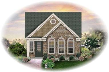 3-Bedroom, 1360 Sq Ft French House Plan - 170-2323 - Front Exterior