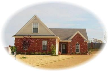 3-Bedroom, 1616 Sq Ft French Home Plan - 170-2330 - Main Exterior