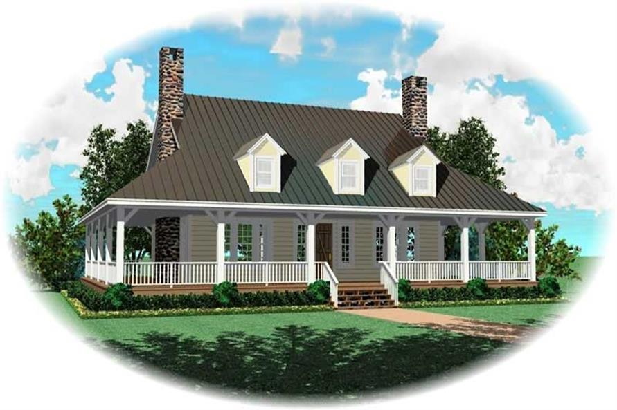 3-Bedroom, 3000 Sq Ft Home Plan - 170-2336 - Main Exterior