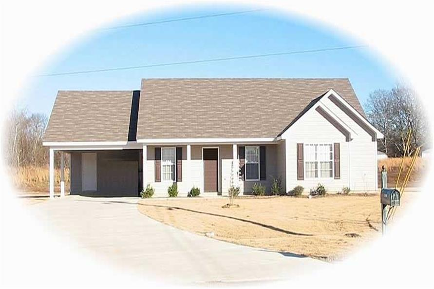 4-Bedroom, 1440 Sq Ft Small House Plans - 170-2350 - Main Exterior