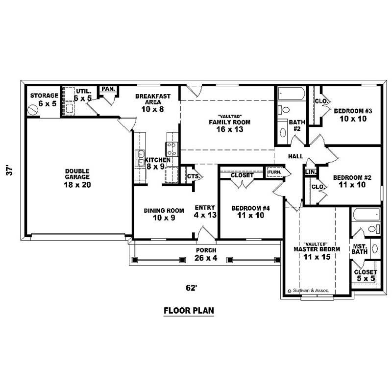 Traditional House Plans Home Design Su 1429 526 T 13837