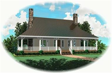 3-Bedroom, 2200 Sq Ft Country Home Plan - 170-2424 - Main Exterior