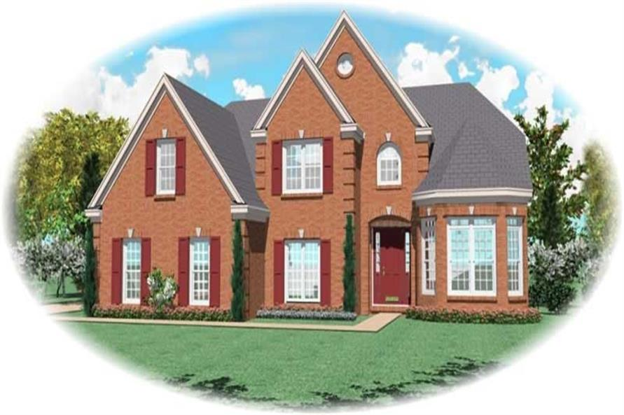 4-Bedroom, 2851 Sq Ft French Home Plan - 170-2446 - Main Exterior
