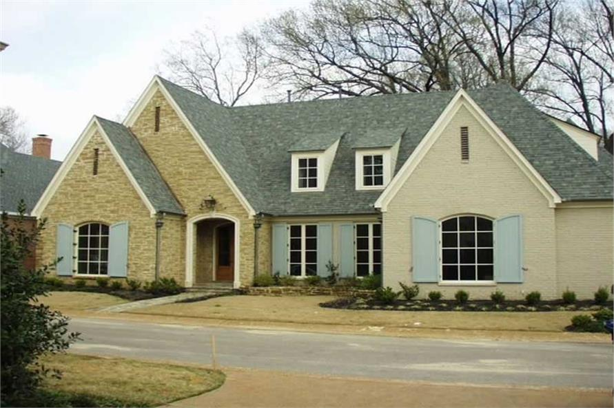 5-Bedroom, 5420 Sq Ft French Home Plan - 170-2451 - Main Exterior