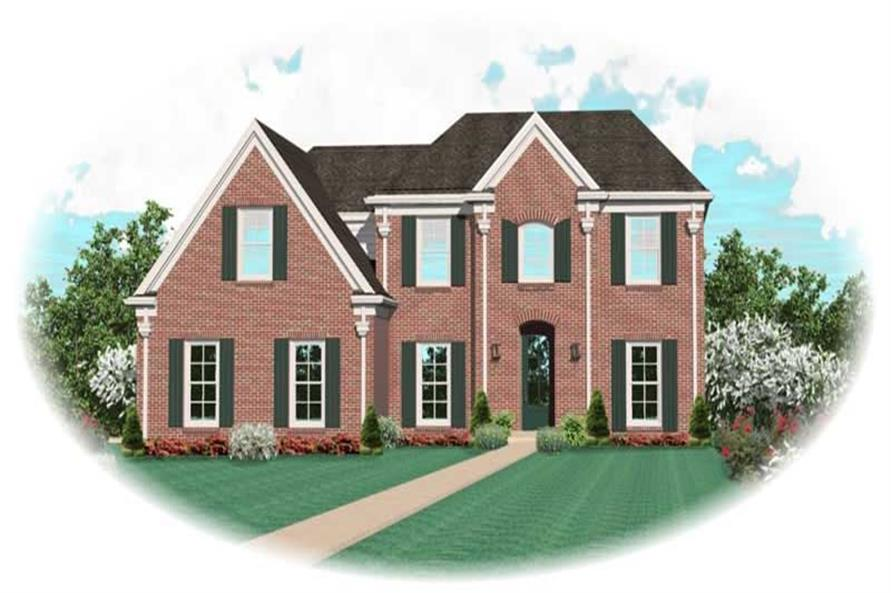 3-Bedroom, 2886 Sq Ft French House Plan - 170-2453 - Front Exterior