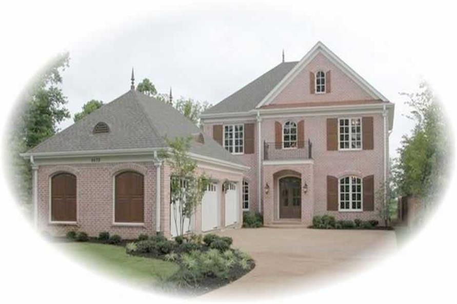 3-Bedroom, 4802 Sq Ft Country House Plan - 170-2456 - Front Exterior