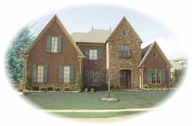 4-Bedroom, 4940 Sq Ft French House Plan - 170-2458 - Front Exterior