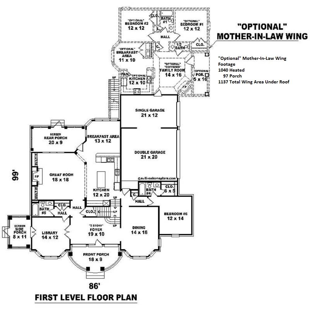 170-2459 house plan first floor