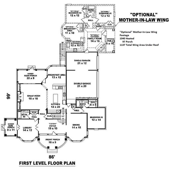 House Plans With Mother In Law Wing