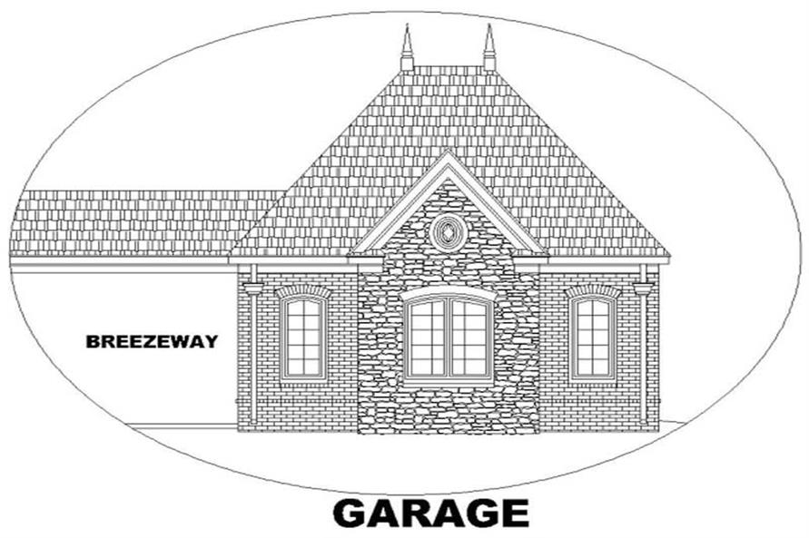 FLOOR PLAN GARAGE ELEVATION of this 4-Bedroom,4522 Sq Ft Plan -4522