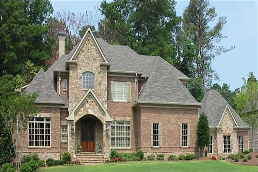 4-Bedroom, 4522 Sq Ft French Home Plan - 170-2463 - Main Exterior