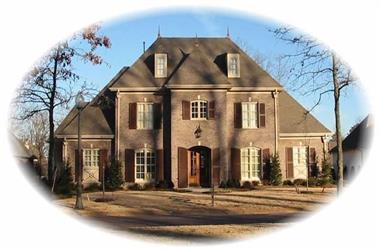 4-Bedroom, 5101 Sq Ft French Home Plan - 170-2465 - Main Exterior