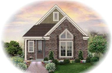 3-Bedroom, 1305 Sq Ft Traditional House Plan - 170-2467 - Front Exterior