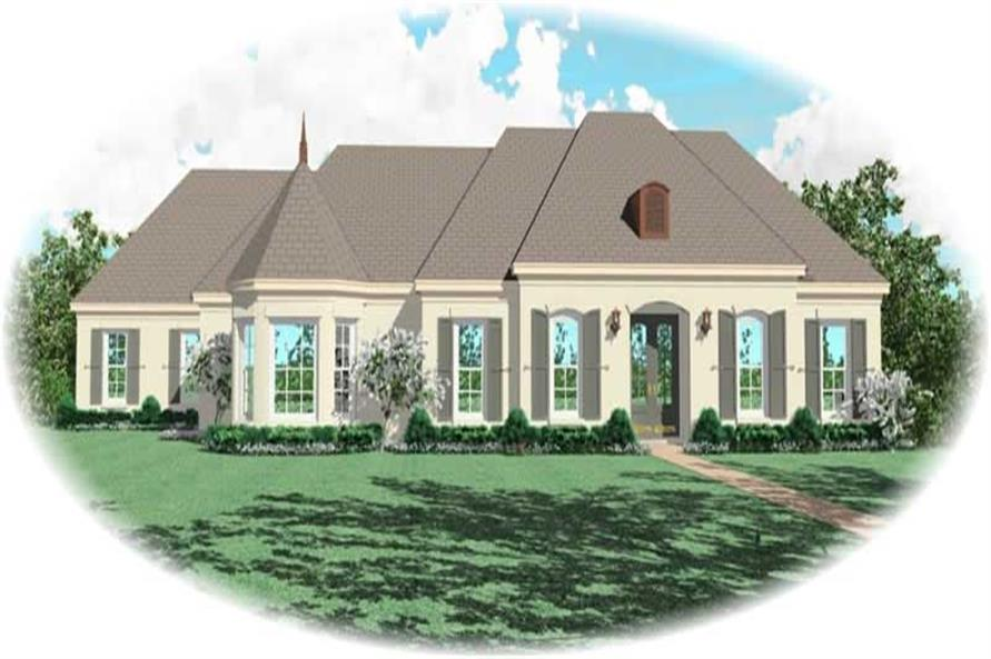 3-Bedroom, 3167 Sq Ft French House Plan - 170-2499 - Front Exterior
