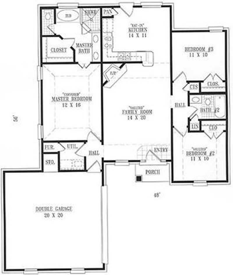 Small european french craftsman house plans home for Small european house plans