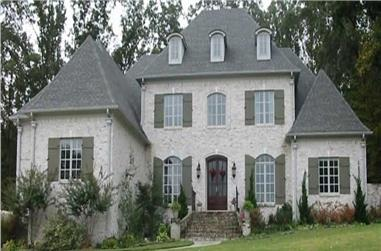4-Bedroom, 4627 Sq Ft French House Plan - 170-2503 - Front Exterior
