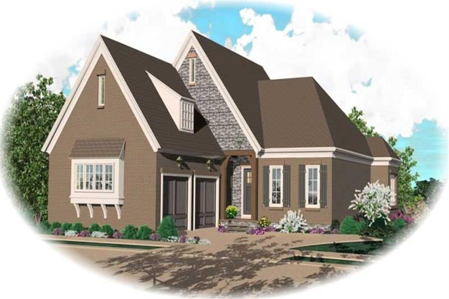 3-Bedroom, 3174 Sq Ft French House Plan - 170-2509 - Front Exterior