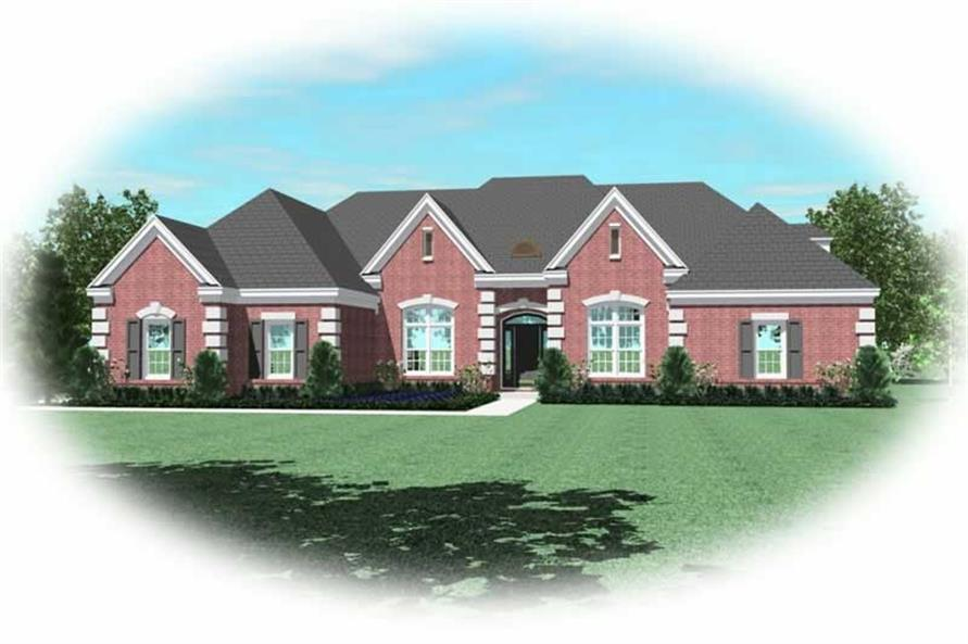 4-Bedroom, 3471 Sq Ft 1 1/2 Story Home Plan - 170-2510 - Main Exterior