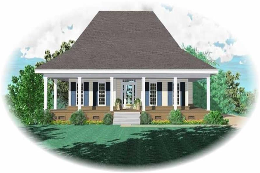 3-Bedroom, 1800 Sq Ft Country House Plan - 170-2515 - Front Exterior