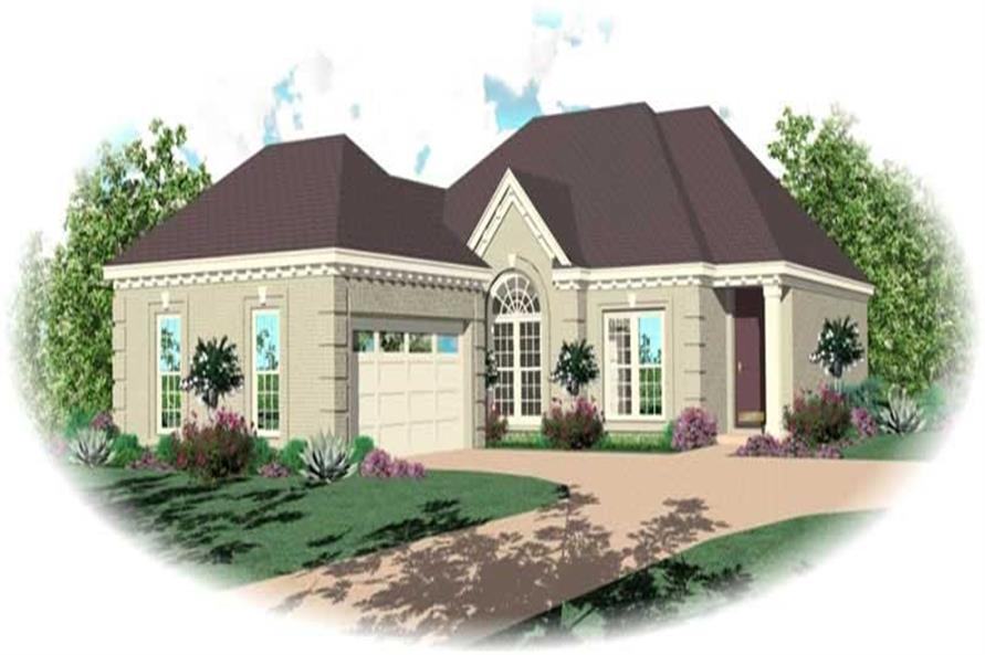 2-Bedroom, 1857 Sq Ft French Home Plan - 170-2516 - Main Exterior