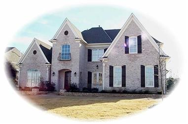 4-Bedroom, 4260 Sq Ft French Home Plan - 170-2521 - Main Exterior