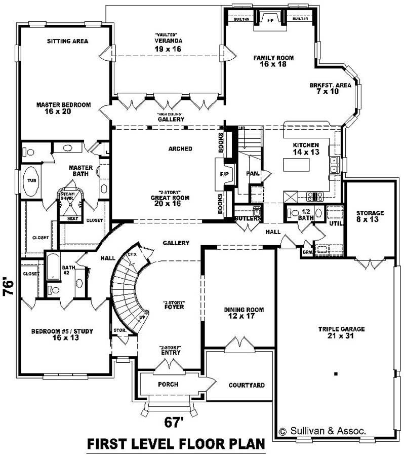 Luxury french house plans home design su b3000 1230 for Floor plan in french