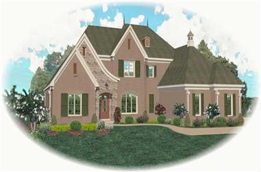 4-Bedroom, 4845 Sq Ft French House Plan - 170-2528 - Front Exterior