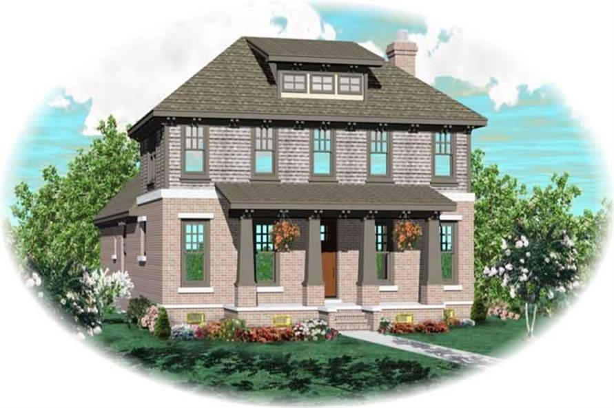 3-Bedroom, 2864 Sq Ft Craftsman Home Plan - 170-2539 - Main Exterior