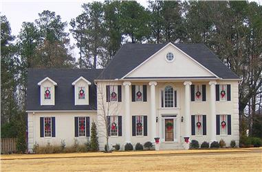 4-Bedroom, 2537 Sq Ft Colonial Home Plan - 170-2549 - Main Exterior