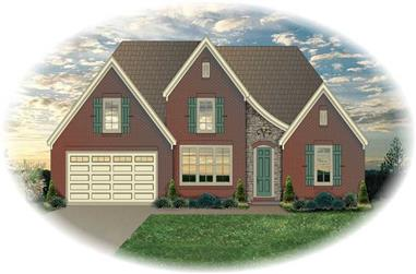 3-Bedroom, 2083 Sq Ft Country House Plan - 170-2564 - Front Exterior
