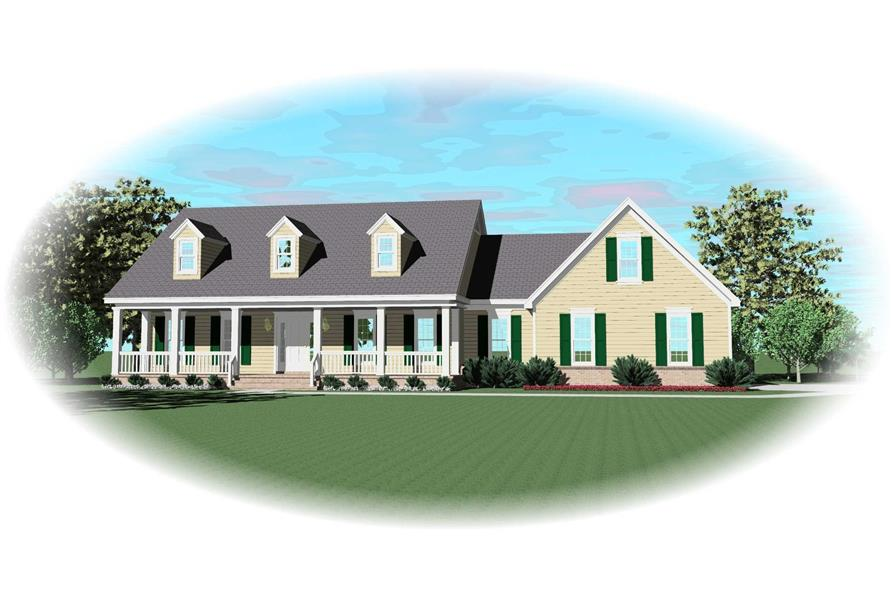 3-Bedroom, 2743 Sq Ft Cape Cod House Plan - 170-2593 - Front Exterior