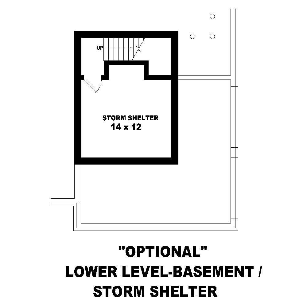 Large images for house plan 170 2594 - House plans one story with basement collection ...