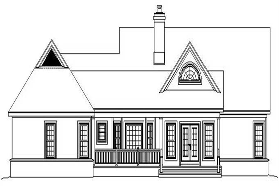 Home Plan Rear Elevation of this 3-Bedroom,2743 Sq Ft Plan -170-2594