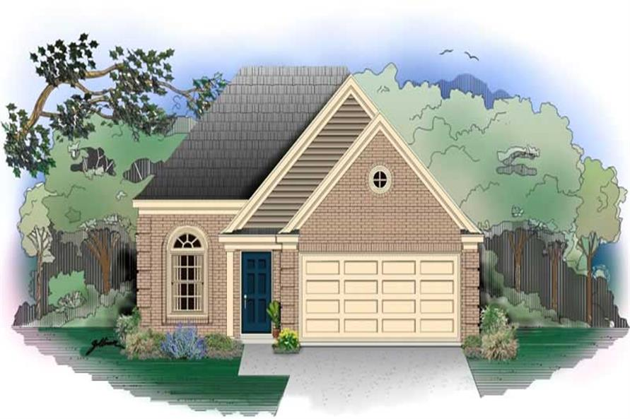 3-Bedroom, 1274 Sq Ft French House Plan - 170-2643 - Front Exterior