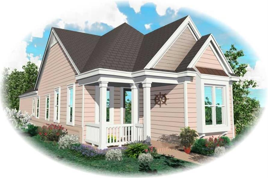 2-Bedroom, 1209 Sq Ft Bungalow Home Plan - 170-2644 - Main Exterior