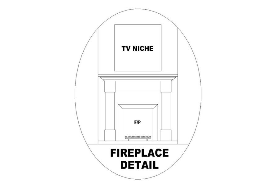 FIREPLACE of this 2-Bedroom,1209 Sq Ft Plan -1209