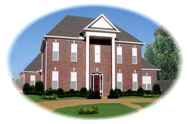 4-Bedroom, 3902 Sq Ft French House Plan - 170-2645 - Front Exterior