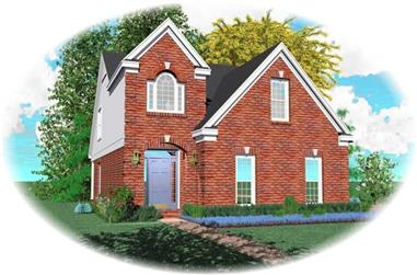 3-Bedroom, 1725 Sq Ft French Home Plan - 170-2646 - Main Exterior