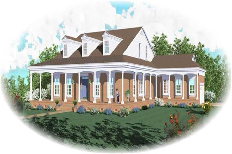 3-Bedroom, 2645 Sq Ft Ranch Home Plan - 170-2659 - Main Exterior