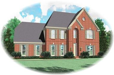 4-Bedroom, 2778 Sq Ft Traditional House Plan - 170-2661 - Front Exterior