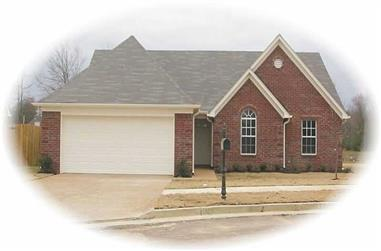 3-Bedroom, 1366 Sq Ft French House Plan - 170-2662 - Front Exterior