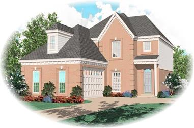 3-Bedroom, 1821 Sq Ft French Home Plan - 170-2664 - Main Exterior